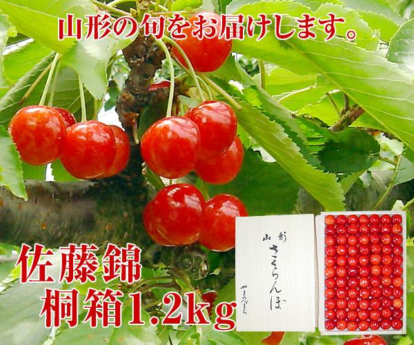 佐藤錦桐箱1.2キロ