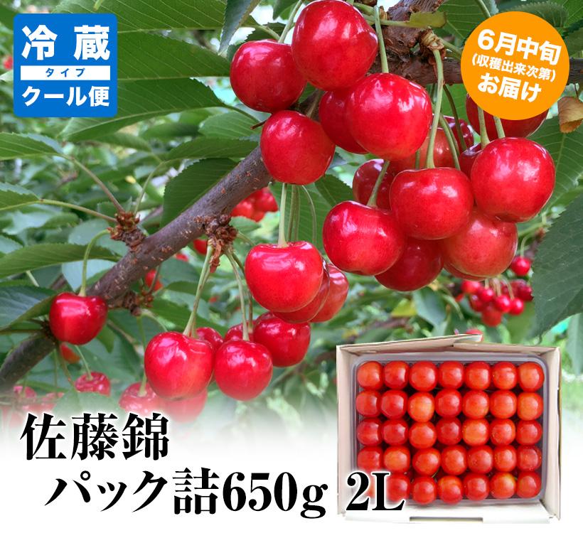 【父の日用】【クール対応】佐藤錦パック詰650g